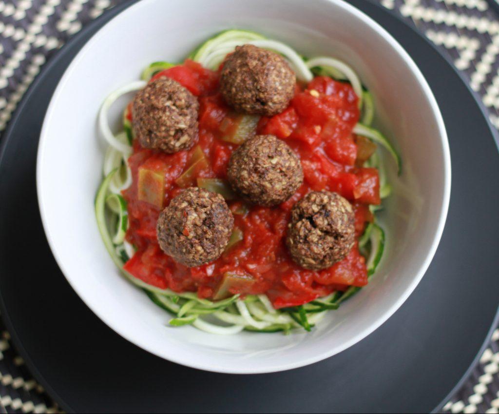 Spaghetti & Mushroom Balls