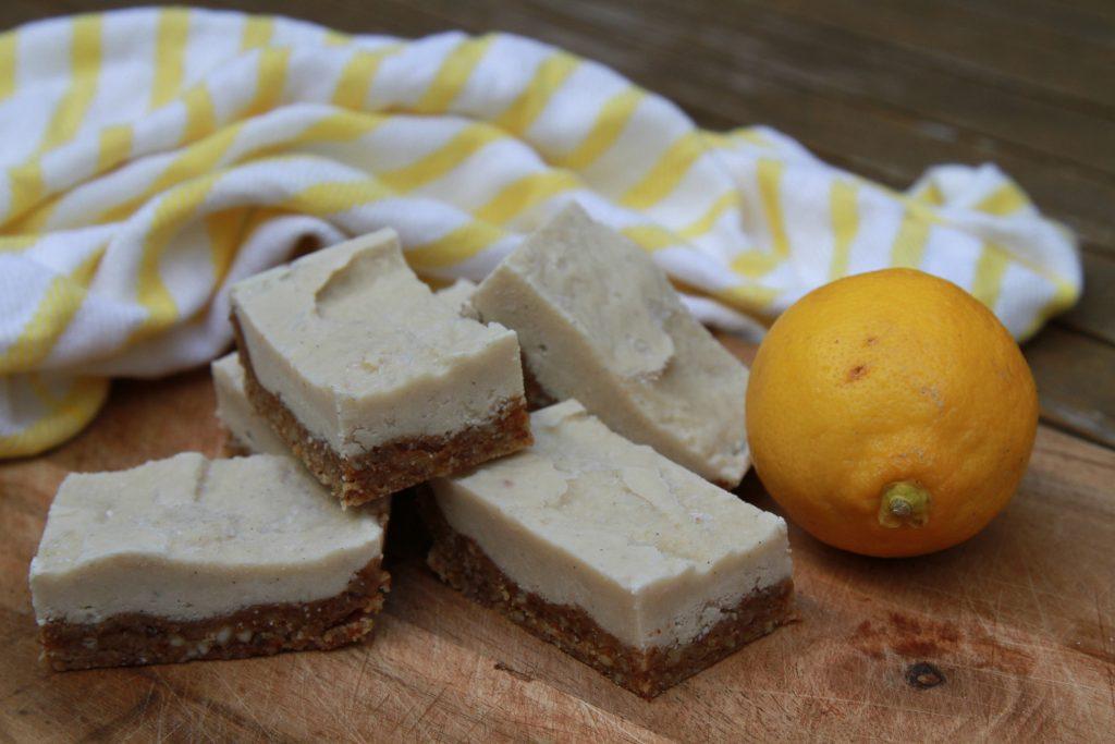 Lemon & Cashew Slice