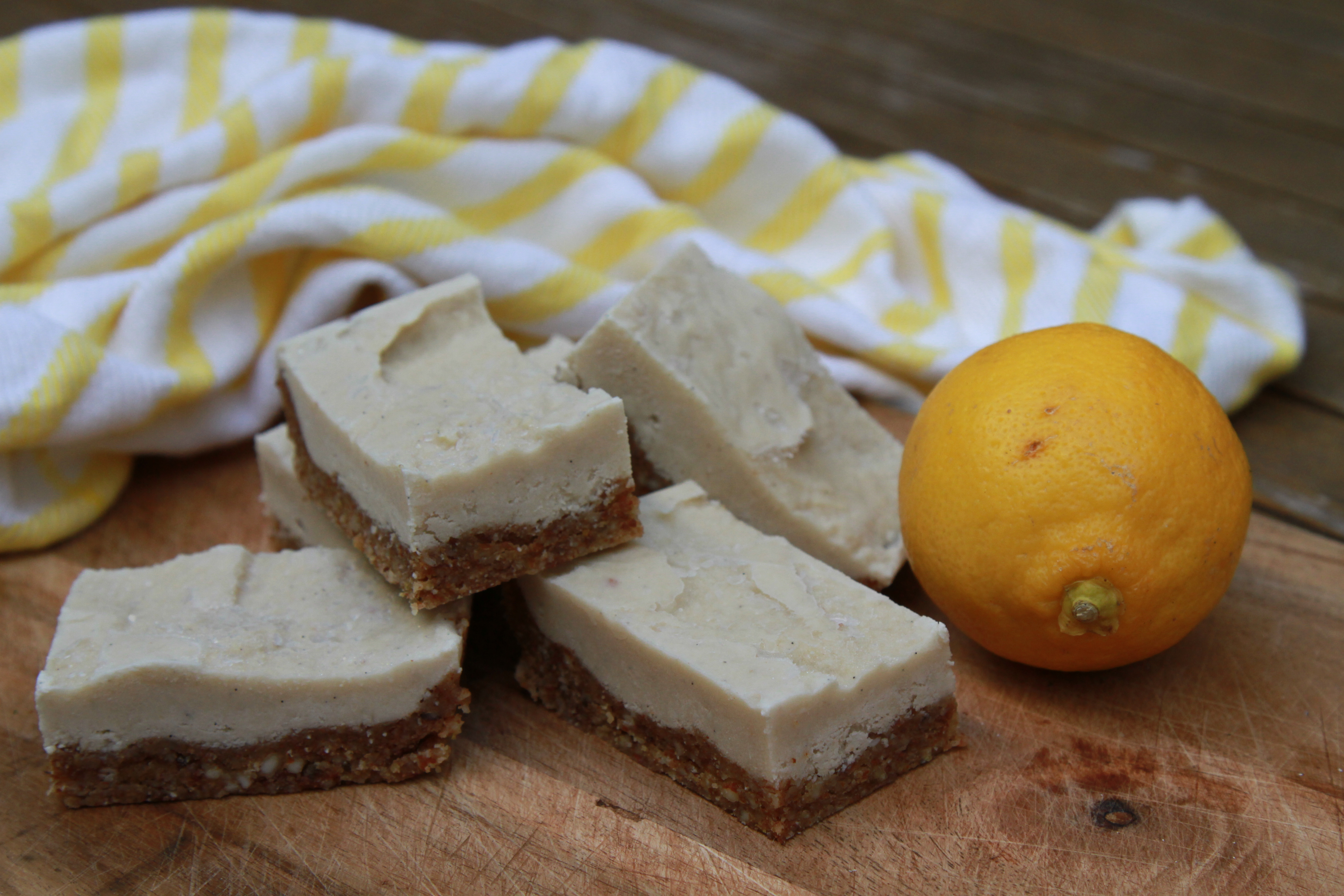 Lemon & Cashew Slice