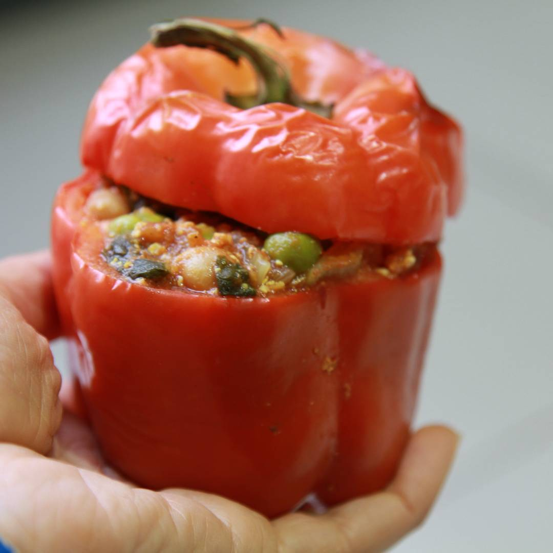 Plant Protein Stuffed Capsicums