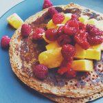 Sunday morning rituals pancakes  coffee  newspaper